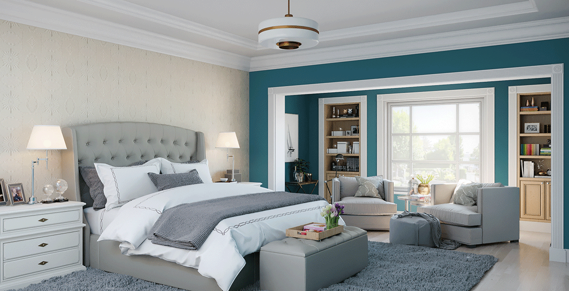 master bedroom paint colors in peacock blue and tans