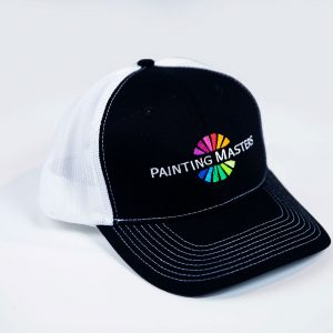 black and white logo painter cap