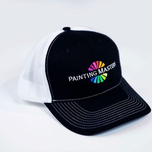black and white logo painter cap