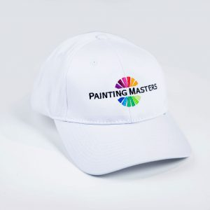 white paint masters painter cap with logo