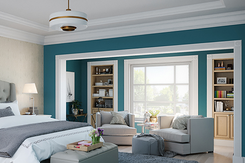 peacocok paint color bedroom