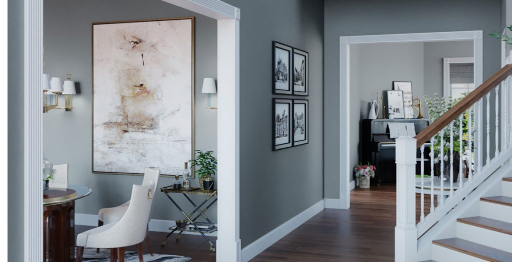 entry way with a gray paint job