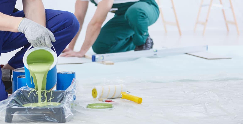 painters preparing paint