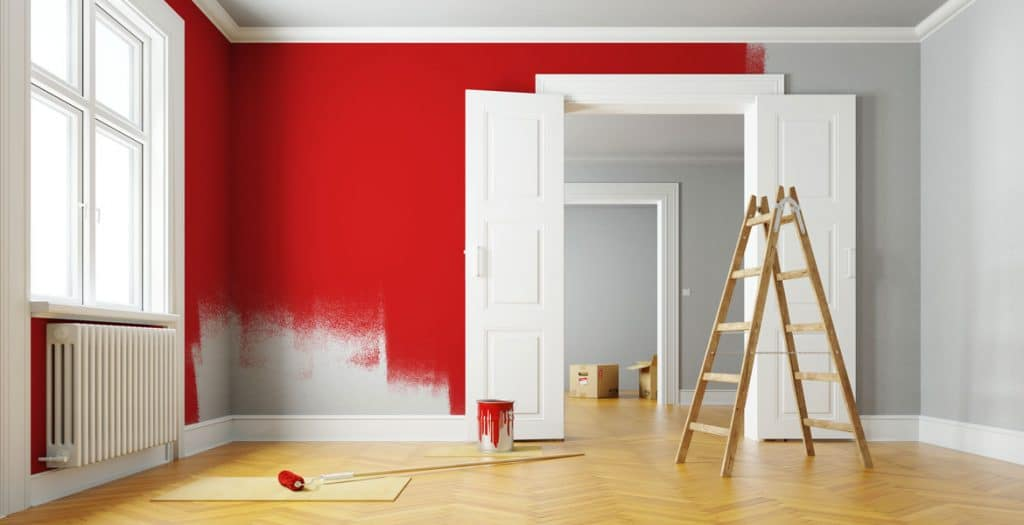 walls being painted red