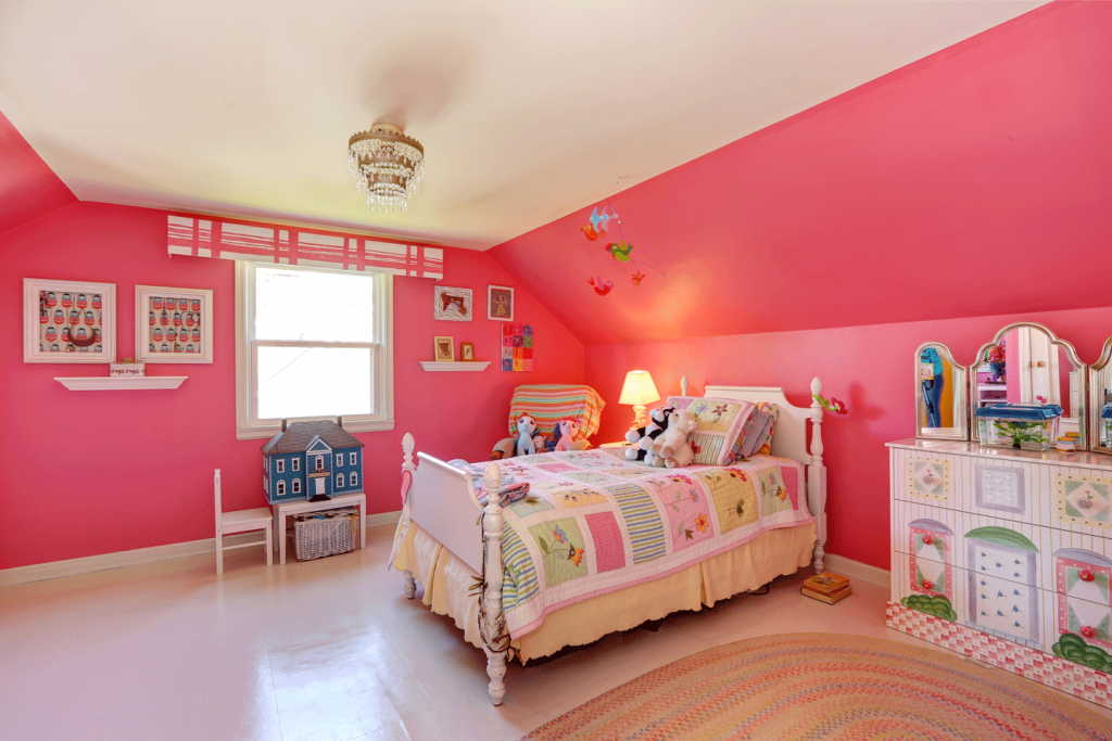 painting child's bedroom pink