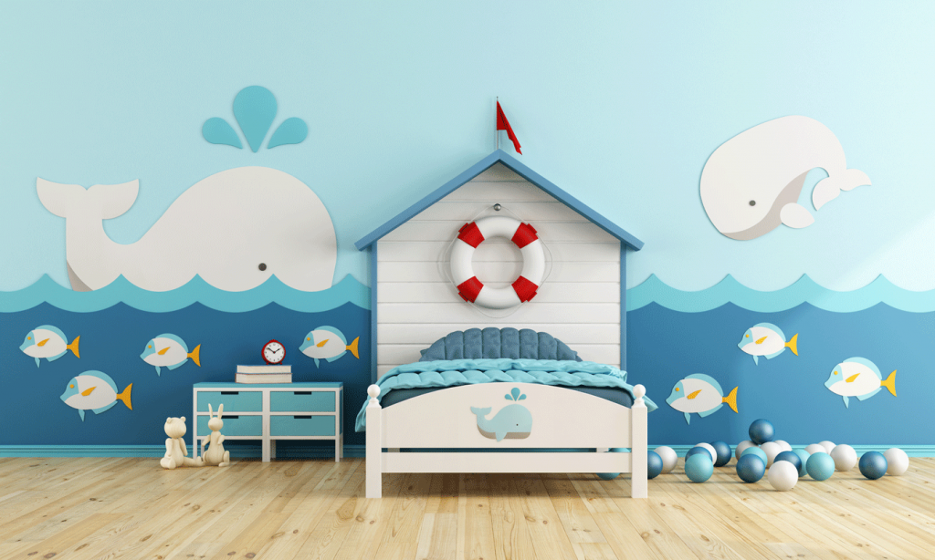 feature wall in child's bedroom