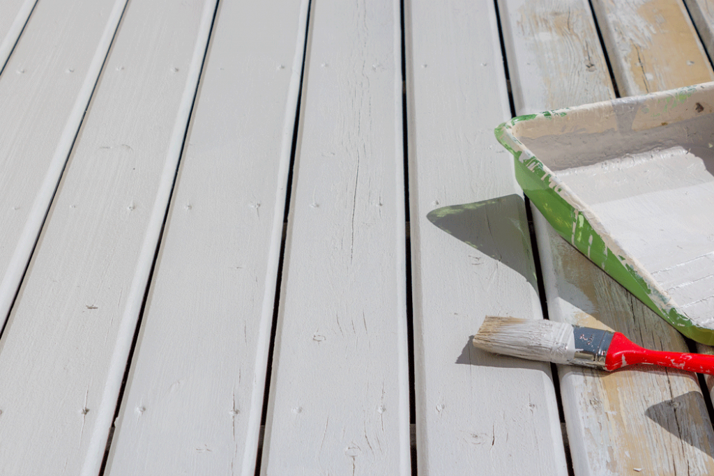 painting deck white